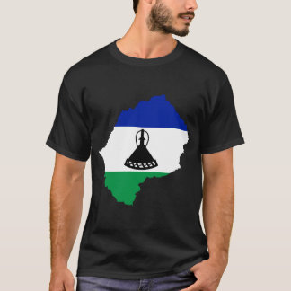 Lesotho Flag Map T-Shirt