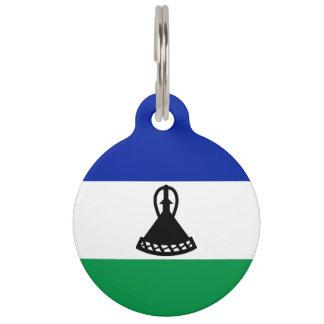 Lesotho Flag Pet ID Tag