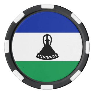 Lesotho Flag Poker Chips