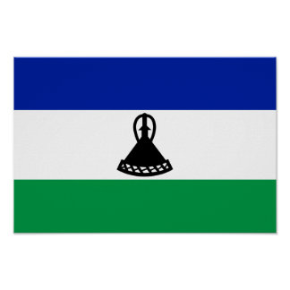 Lesotho Flag Print