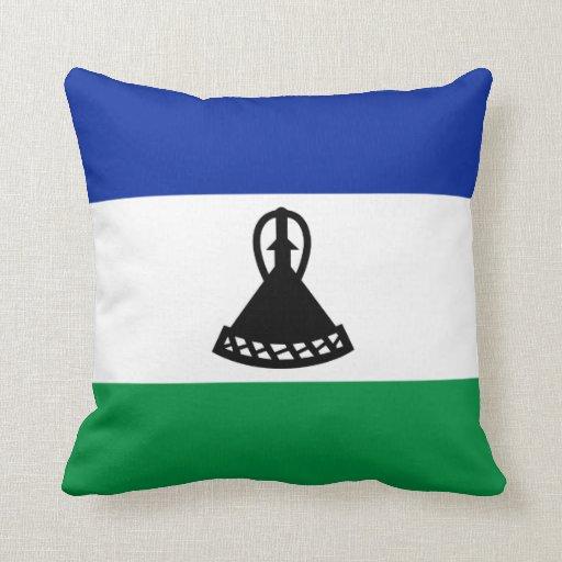 Lesotho Flag x Flag Pillow