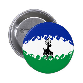 Lesotho Gnarly Flag Pinback Buttons
