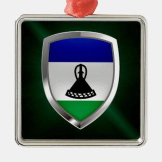 Lesotho Metallic Emblem Metal Ornament