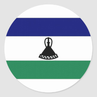 Lesotho National Flag Classic Round Sticker