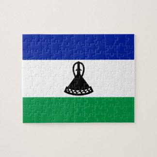 Lesotho National World Flag Jigsaw Puzzle