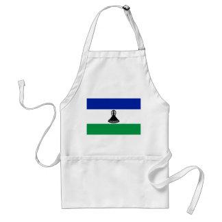 Lesotho National World Flag Standard Apron