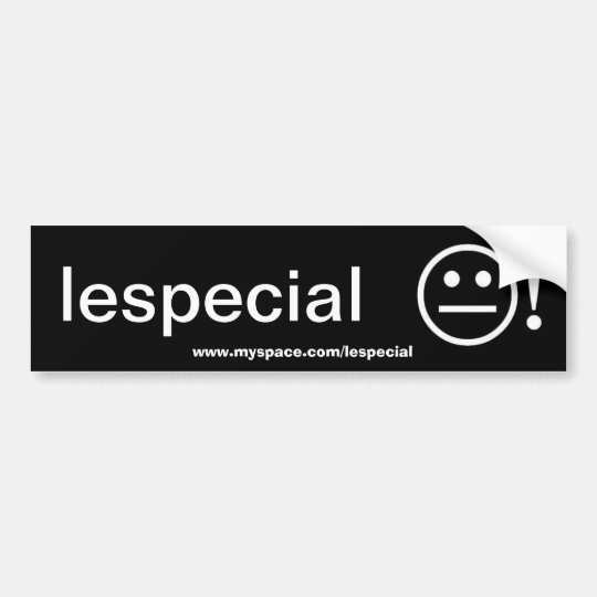 lespecial bumper sticker