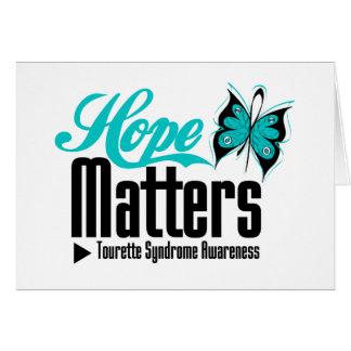 L'espoir importe syndrome de Tourette Carte De Vœux