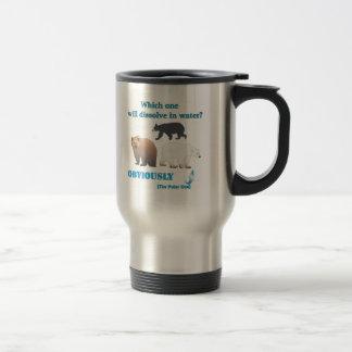 Lesquels se dissoudra dans la chimie polaire de l' mug de voyage en acier inoxydable