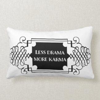 Less Drama More Karma Lumbar Pillow