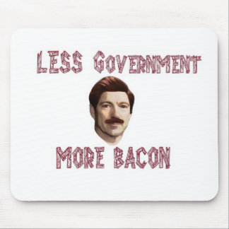 """Less Government More Bacon"" Rand/Swanson Mousepad"