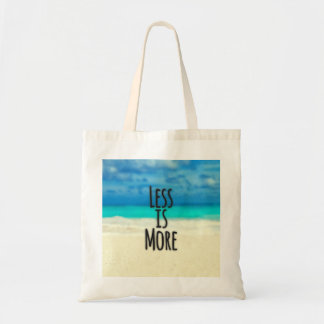 """Less is More."" Typography Abstract Beach Scene"