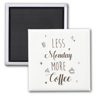 Less Monday, more coffee Magnet