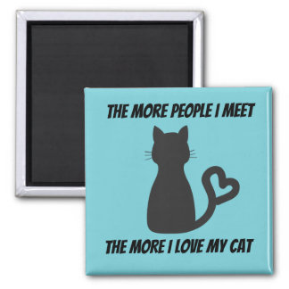 Less People More Cats Magnet