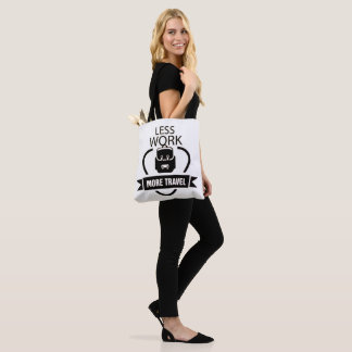 Less Work More travel vintage tote bag