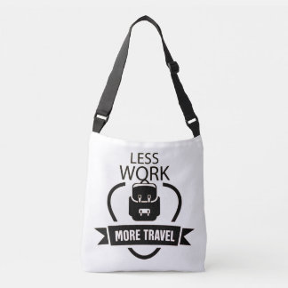 Less Work More travel vintage toto bag
