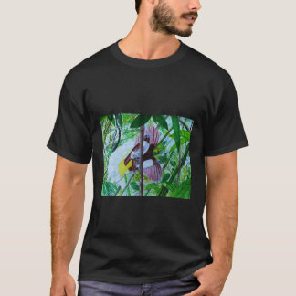 Lesser Birds of Paradise in Watercolor T-Shirt