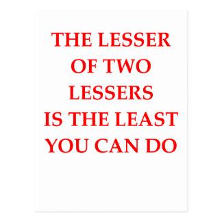 LESSER POSTCARD