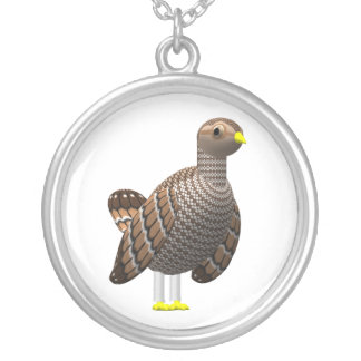 Lesser Prairie Chicken Silver Plated Necklace
