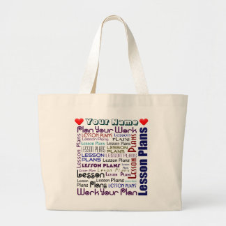Lesson Plan Pouch Large Tote Bag