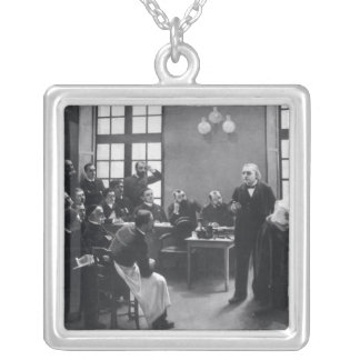 Lesson with Doctor Charcot at the Salpetriere Silver Plated Necklace