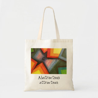 lessr wrk 070, Abstraction attraction Budget Tote Bag
