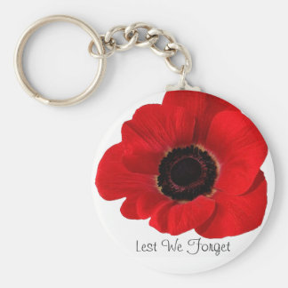 Lest We Forget Basic Round Button Keychain