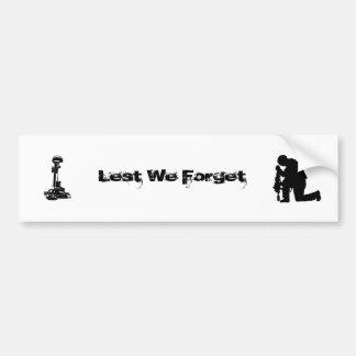 Lest We Forget (Our Fallen) Bumper Sticker