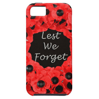 Lest We Forget (Poppy Wreath) iPhone 5 Cases