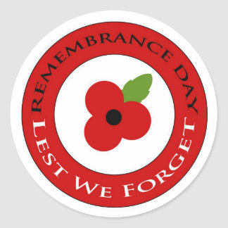 Lest we forget - Sticker