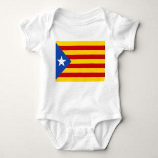 """L'Estelada Blava"" Catalan Independence Flag Baby Bodysuit"