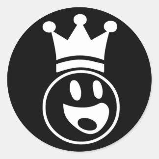 Lester - black round classic round sticker