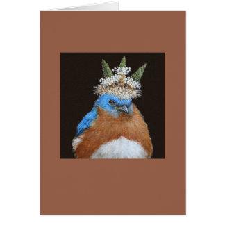 Lester the grumpy, bossy bluebird card