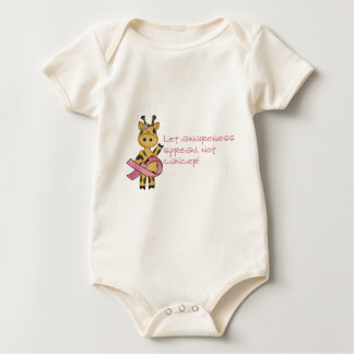 Let awareness spread not cancer baby bodysuit