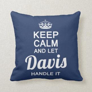 Let  Davis handle It! Throw Pillow
