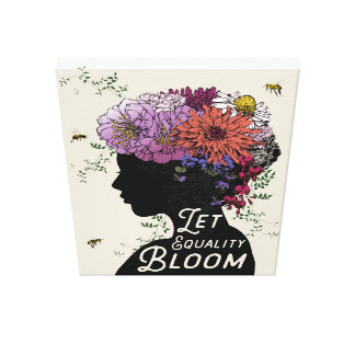 "Let Equality Bloom - Canvas print 18"" x 24"""