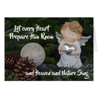 Let every Heart Prepare Him Room, Christmas Angel Card