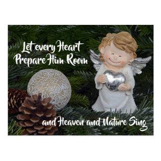 Let every Heart Prepare Him Room, Christmas Carol Postcard