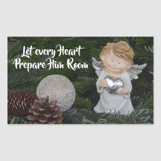 Let every Heart Prepare Him Room, Christmas Carol Sticker
