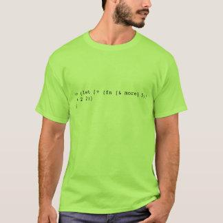 (let [+ (fn [& more] 5)] (+ 2 2)) T-Shirt