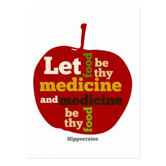 Let Food be thy Medicine APPLE Postcard