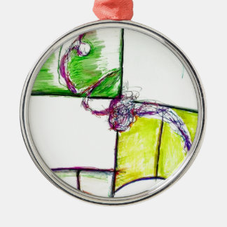 Let Freedom Reign in the Dance of the Chaos Star Metal Ornament