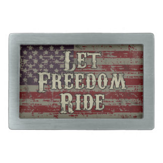 Let Freedom Ride - American Flag Belt Buckles