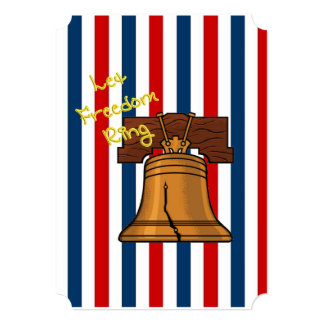Let Freedom Ring July 4th Party Invitation