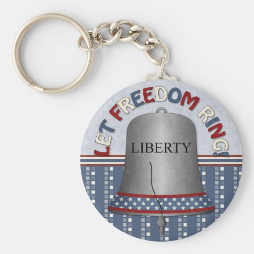 Let Freedom Ring Liberty Bell Silver Key Chains