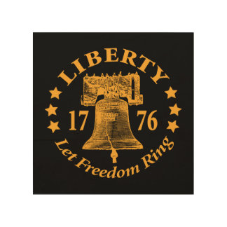 """LET FREEDOM RING"" LIBERTY BELL WOOD WALL ART"