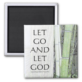Let Go and Let God Bamboo Magnet