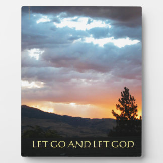 Let Go and Let God July Sky Plaque