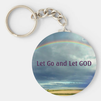 Let Go and Let GOD keychain