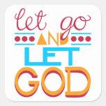 Let Go and Let GOD (Original Typography) Sticker